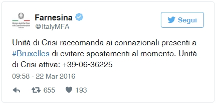 tweet farnesina
