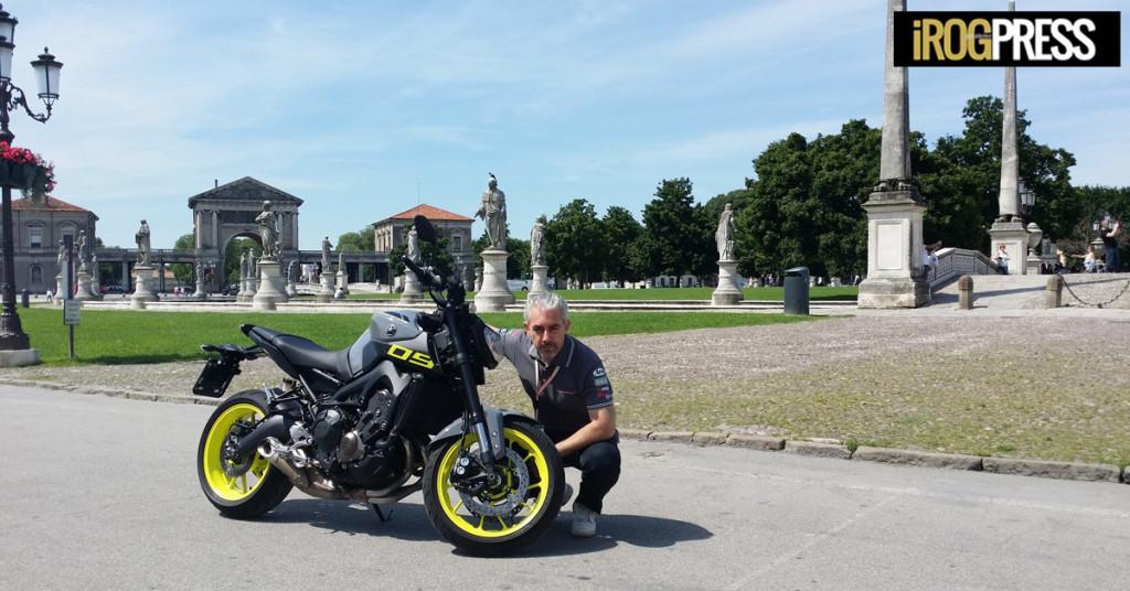 Padova, Prato della Valle - Yamaha MT-09 ABS - Test-Driver: Gori Claudio (nella foto), Collaborazione: Gori Nicholas (www.irog.it)
