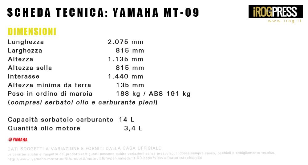 tabella-Yamaha-MT-09_dimensioni