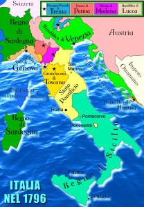 Mappa dell'-Italia nel 1796 - www.irog.it