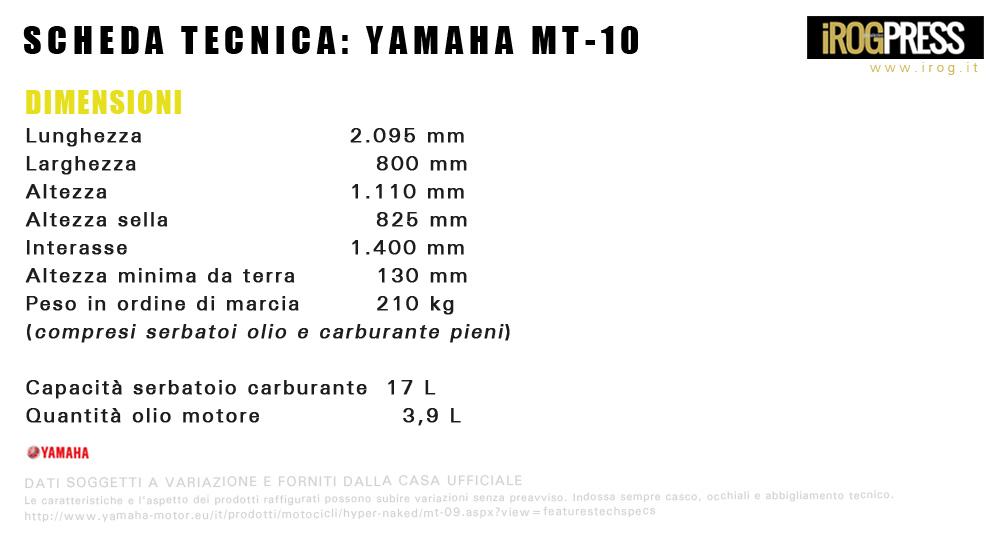 Yamaha MT-10 ABS - www.irog.it - © Diritti Riservati