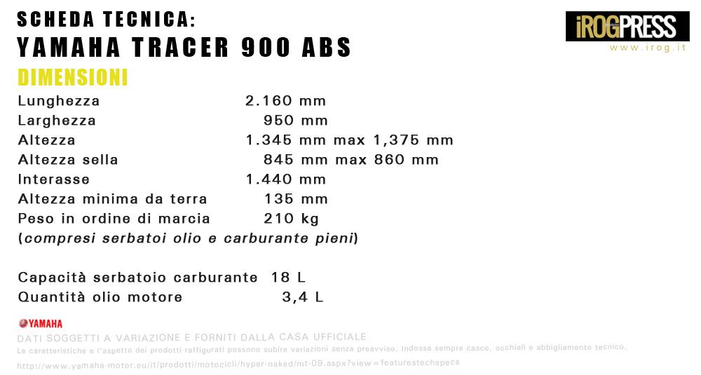 Yamaha MT-09 Tracer 900 ABS - www.irog.it - © Diritti Riservati